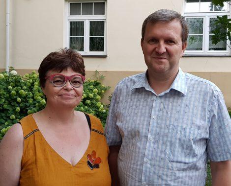 Lors de la formation avec le Maître émailleur Tadas Deksnys